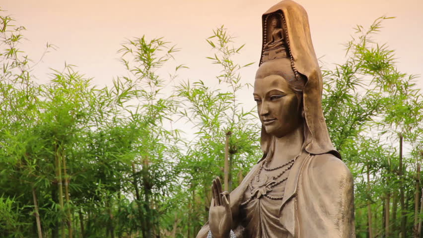 Guan Yin Statue In The Bamboo Garden. Stock Footage Video 10023020 |  Shutterstock