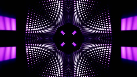 Background motion with fractal design purple kaleidoscope sequence patterns,Disco spectrum lights concert spot bulb,Abstract multicolored motion graphics background,Seamless rotating loop mandala art,