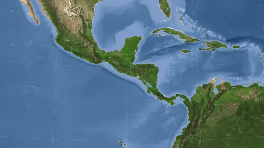 Nicaragua On The Satellite Map Outlined And Glowed Elements Of - Satellite image photo of el salvador