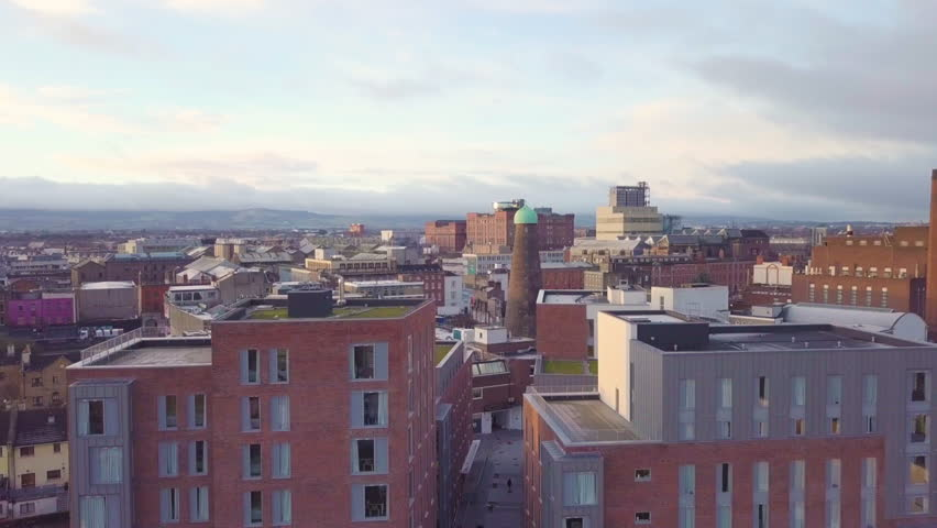 Aerial Dublin City Drone - The Liberties Including Storehouse | Shutterstock HD Video #1005601840