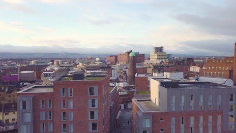 Aerial Dublin City Drone - The Liberties Including Storehouse