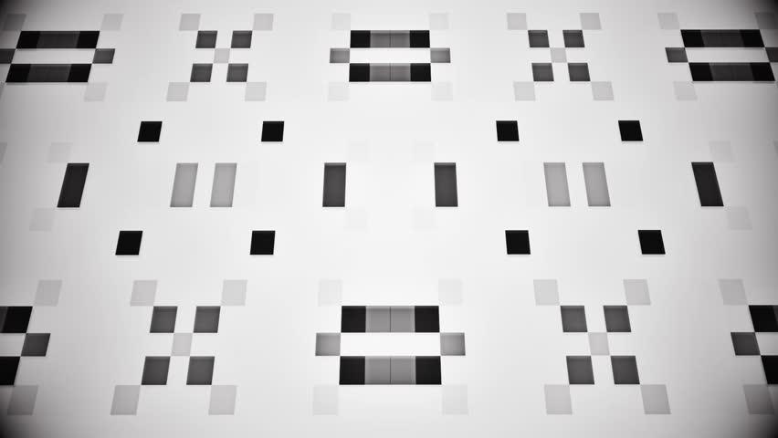 Sci-Fi Black White Artificial Intelligence AI - VJ Loop Background V2 | Shutterstock HD Video #1005603550