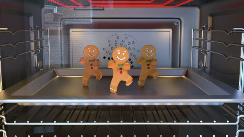 Gingerbread man Dancers. Daylight. 3D animation of funny, hot and sweet cookie boy dancing for holiday and kid event, show, VJ, party, music, website, banner, dvd  #1006567300
