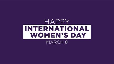 Happy International Women's Day Animated Motion Graphics