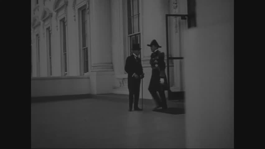 CIRCA 1921 - Allied officers of the armed forces leave the Disarmament Conference and get into their cars. | Shutterstock HD Video #1006638160