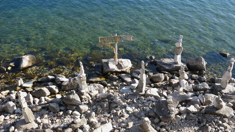 Stone Guardians on the lake