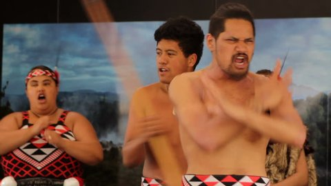 New Zealand, November 25, 2017:Maori traditional dance haka