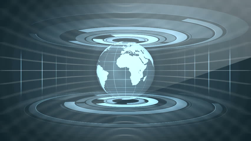 Global News Technology Graphic Animation Background