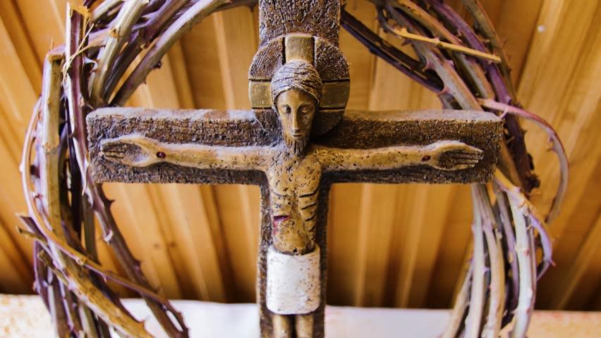 Figurine Of Jesus Christ On The Cross