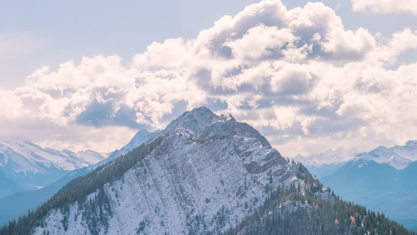 4K Timelapse Sequence of Banff, AB, Canada - The Candian Rockies during the day
