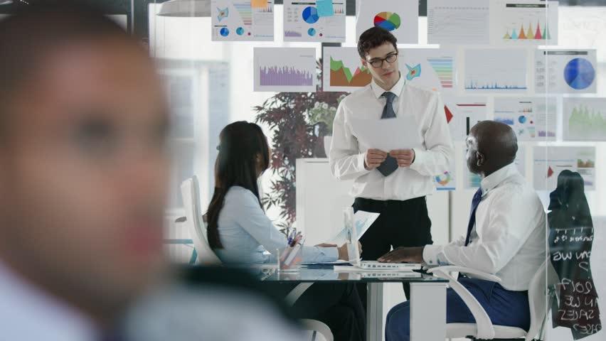 Modern corporate office meeting | Shutterstock HD Video #1006830910
