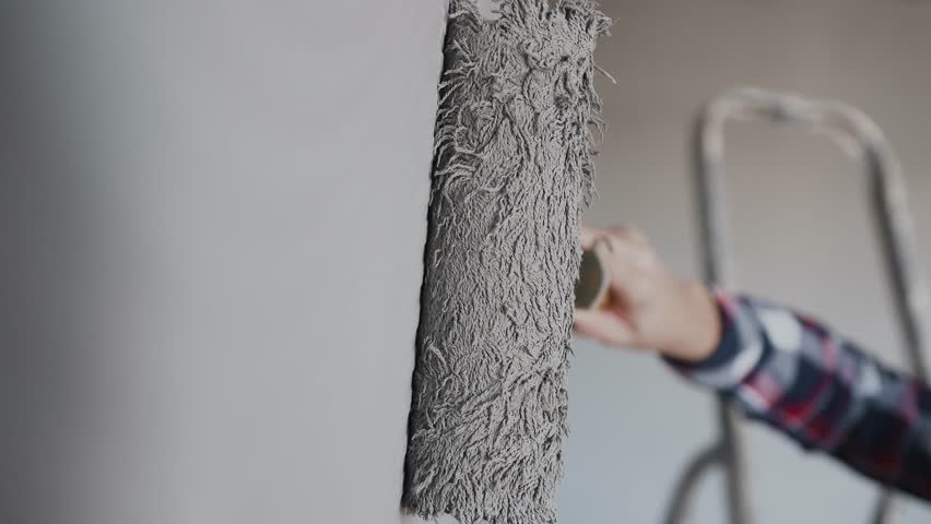 Painting Out A Bare Wall Stock Footage Video 100 Royalty Free 1006831090 Shutterstock