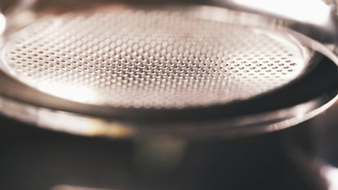 espresso brewing with bottomless portafilter