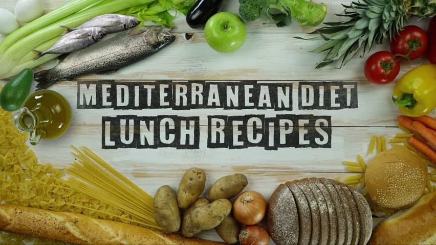 Mediterranean diet dinner recipes stop motion stock footage video mediterranean diet lunch recipes stop motion 4k stock video clip forumfinder Image collections