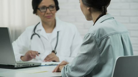 Professional doctor helped patient, effective treatment, happiness and recovery
