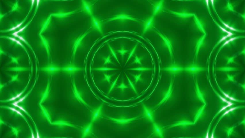 Abstract background with VJ Fractal green kaleidoscopic. 3d rendering digital backdrop. 4k animation   Shutterstock HD Video #1007174110
