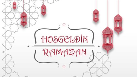 "Animation, Motion Graphic, with Arabic graphic composition and it says in Turkish: ""Ho?geldin Ramazan""  (Welcome Ramadan)"