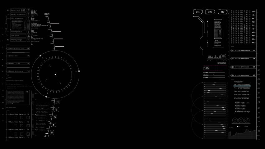 PNG alpha.HUD viewfinder terget.Futuristic infographic elements.HUD pattern.Good for tech video overlay.As HUD infographic material texture for 3D models animation.Type 5