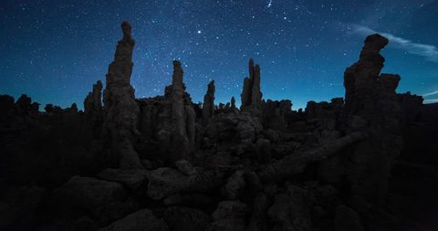 Amazing Milky Way timelapse in Night Sky Over Mono Lake, California. 3 axis motion controlled astrophotography time-lapse