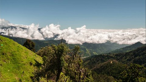 Time Lapse, Fast Moving Clouds Over Parque Nacional Chirripo