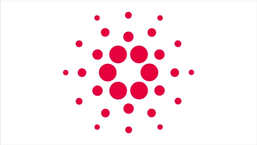 Cardano Symbol Ada Blockchain Cryptocurrency Stock Footage Video