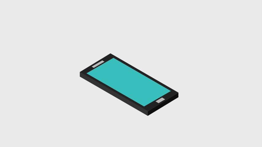 Cellphone sliding 3d icons | Shutterstock HD Video #1007285410