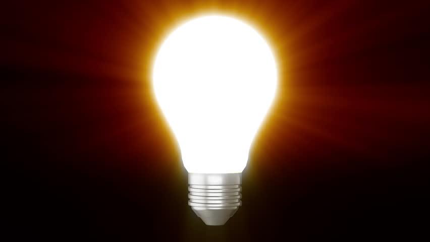 3d lightbulb on black background  | Shutterstock HD Video #1007332420