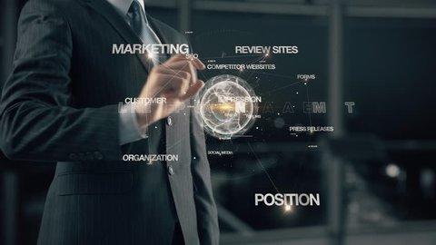 Businessman with Online Reputation Management