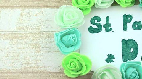 St. Patrick's Day under florets