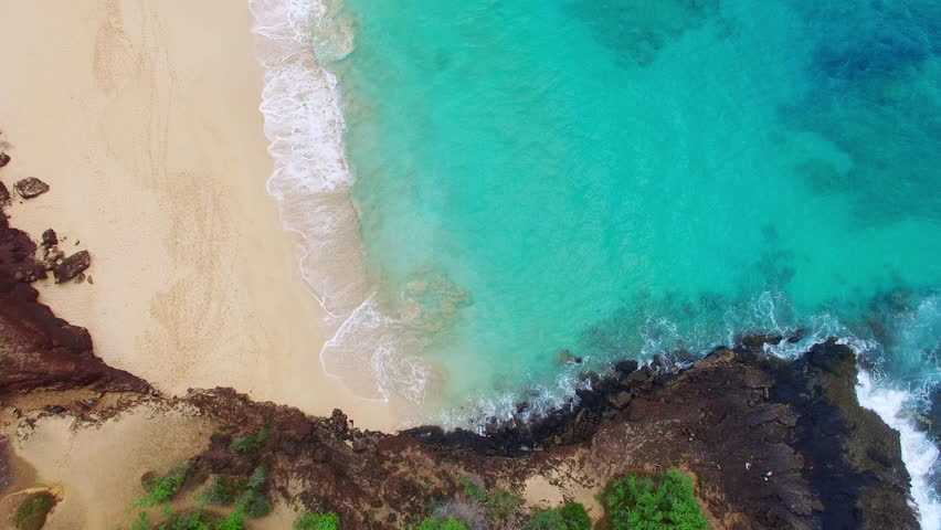 Bird's Eye view of Big Beach at Makena State Park Maui Hawaii. #1007362390