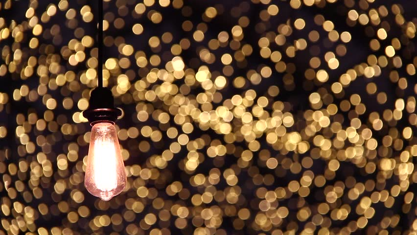 Light Bulb On Beautiful Bokeh Background | Shutterstock HD Video #1007371120