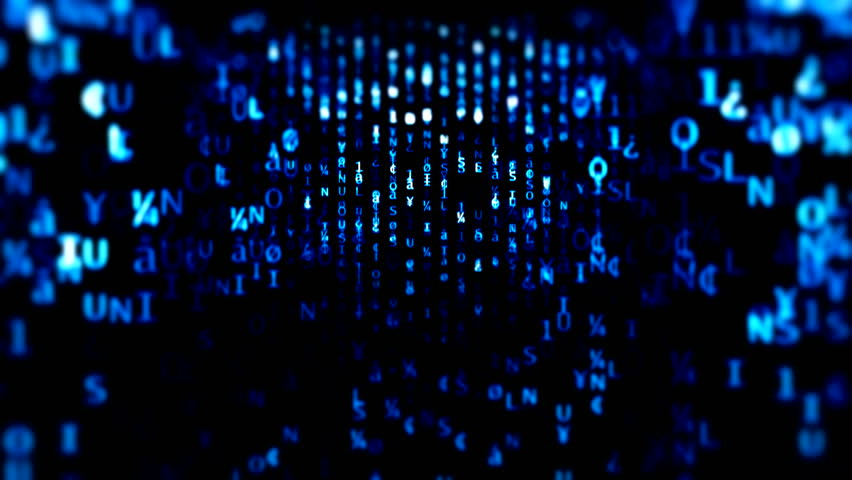 The Matrix style globe binary code environment Blue hexadecimal big data digital code. Futuristic information technology concept. Computer generated seamless loop animation Black blue matrix neon led | Shutterstock HD Video #1007475820