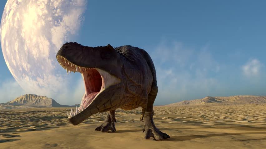 t rex nervous 3d animation