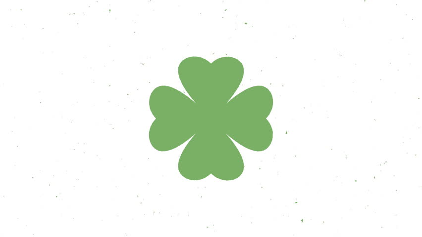 St. Patrick's animated clovers  | Shutterstock HD Video #1007539030