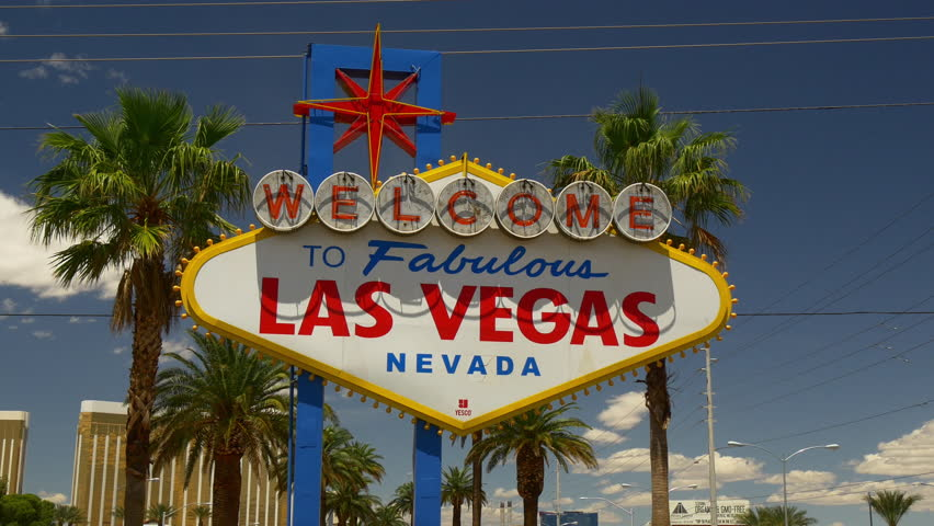 LAS VEGAS, USA - MAY 30 2016: summer light famous welcome sign palm view 4k circa may 30 2016 las vegas, united states of america. | Shutterstock HD Video #1007583040