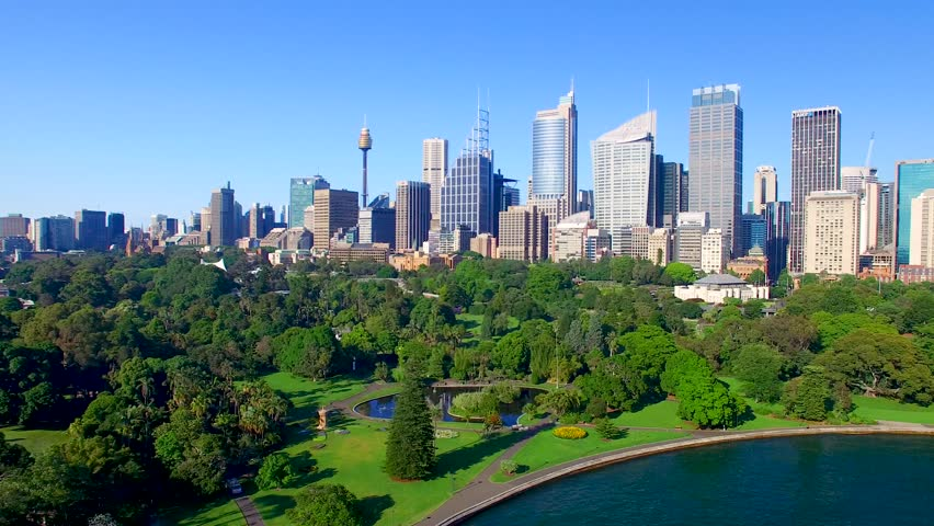 Beautiful aerial view of Sydney skyline, Australia.