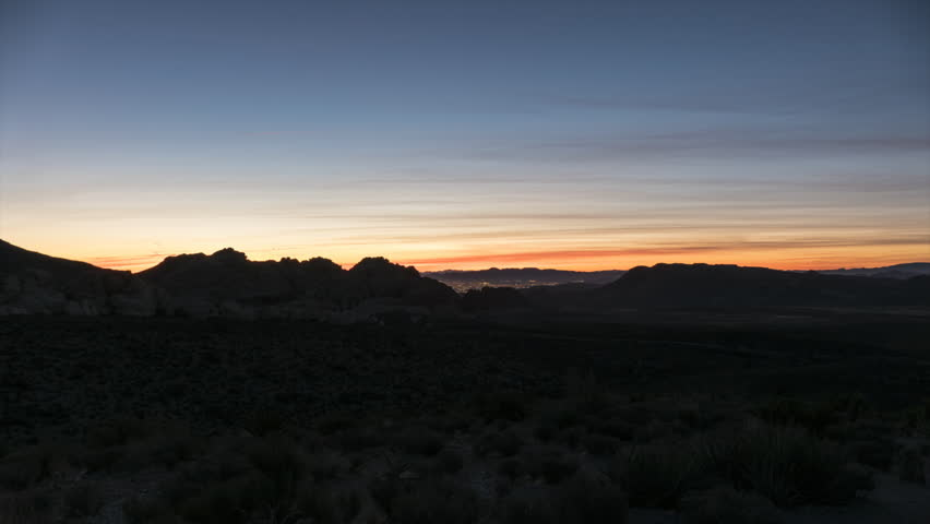 Sunrise time lapse view with zoom in towards Calico Rocks at Red Rock Canyon National Conservation Area near Las Vegas Nevada.    Shutterstock HD Video #1007657230