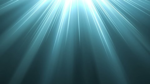 4K Light blue warm heaven lights from above soft optical lens flares shiny animation art background animation. Motion graphic natural lighting lamp rays shiny effect dynamic colorful.