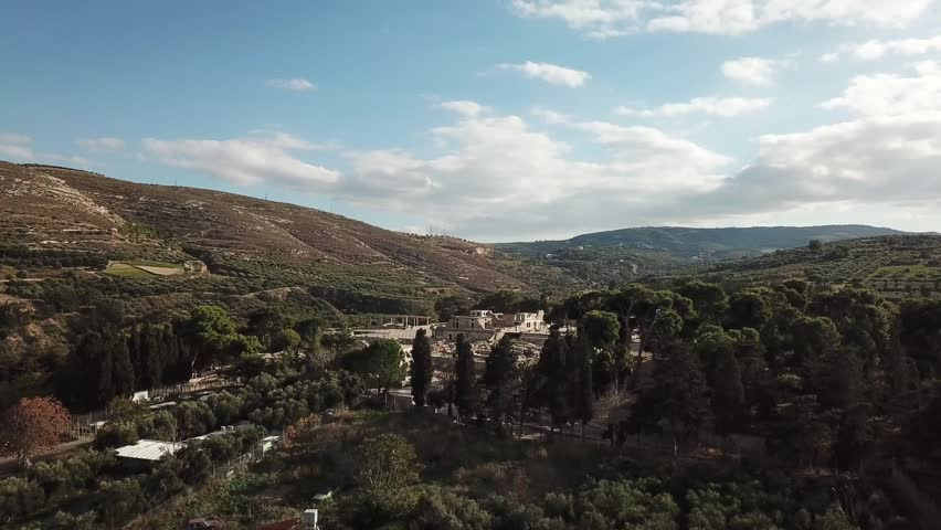 Aerial view of Knossos palace at Crete, Greece | Shutterstock HD Video #1007689960