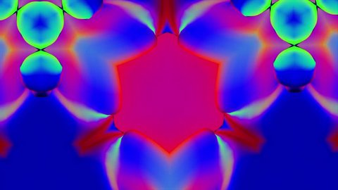 Colorful Kaleidoscopic Video Background Loop. Colorful kaleidoscopic patterns quickly change shape. Organic Low Poly Patterns. Complex geometries flow smoothly, seamlessly. A lot of colors and nice