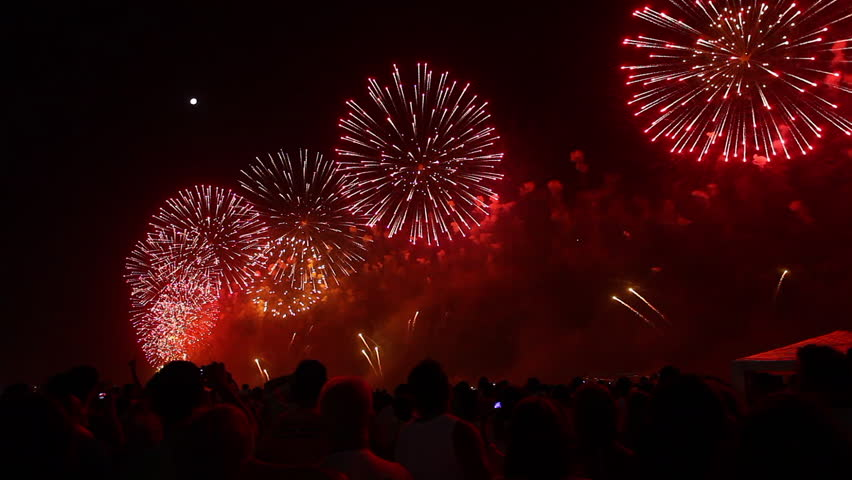 Fireworks in New Year's Eve | Shutterstock HD Video #1007829040