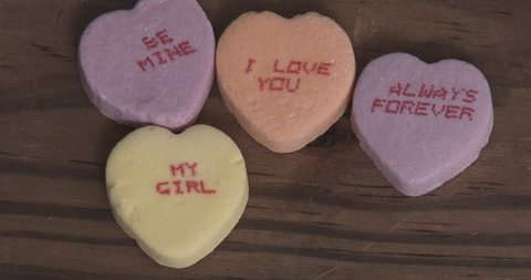Valentine's Day Candy Hearts With Messages - Adds Heart That Says Marry Me