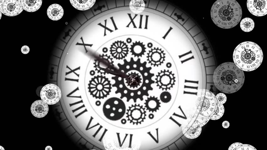 Black and With Clock  | Shutterstock HD Video #1007893510