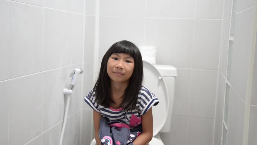 Asian Girl Using Toilet At Stock Footage Video 100 Royalty-Free 1007893990 -1689