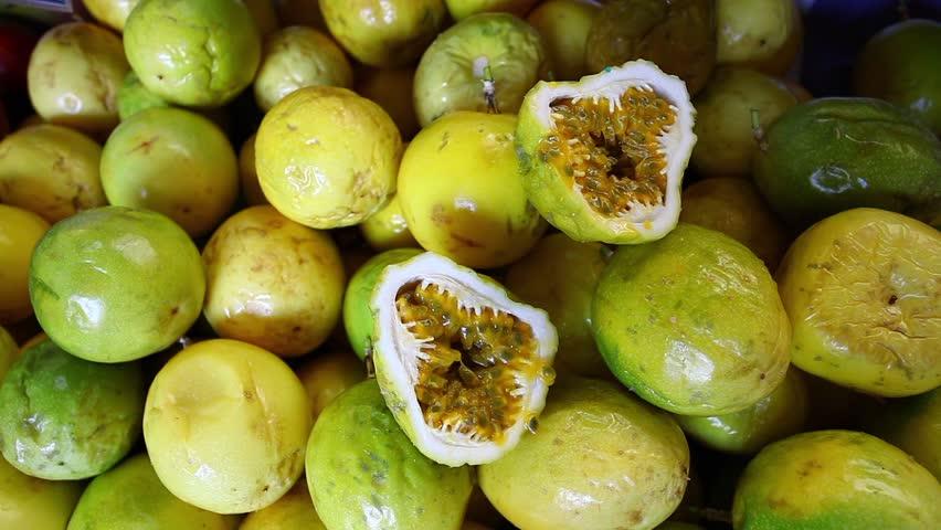Fruit market, passion fruit