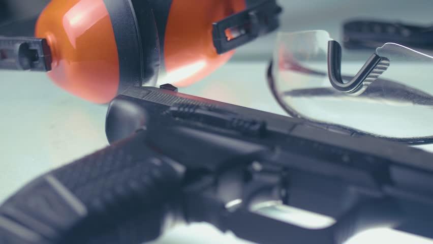 Shooting Range / Equipment for shooting CSI close up 4K