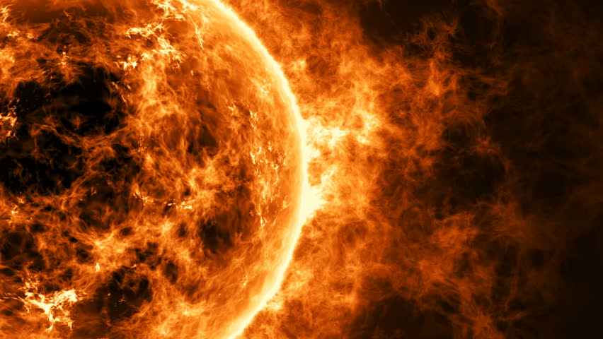 Sun surface with enormous thermal energy. | Shutterstock HD Video #1008075310