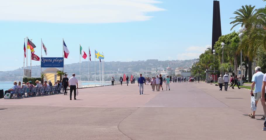France Nice  Promenade Des Anglais The Famous Embankment In