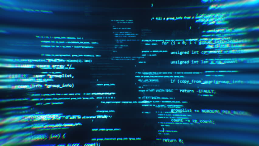 The work of program code in the technological space | Shutterstock HD Video #1008087940