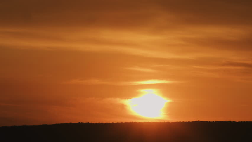 Sunset over distant forest | Shutterstock HD Video #10081127